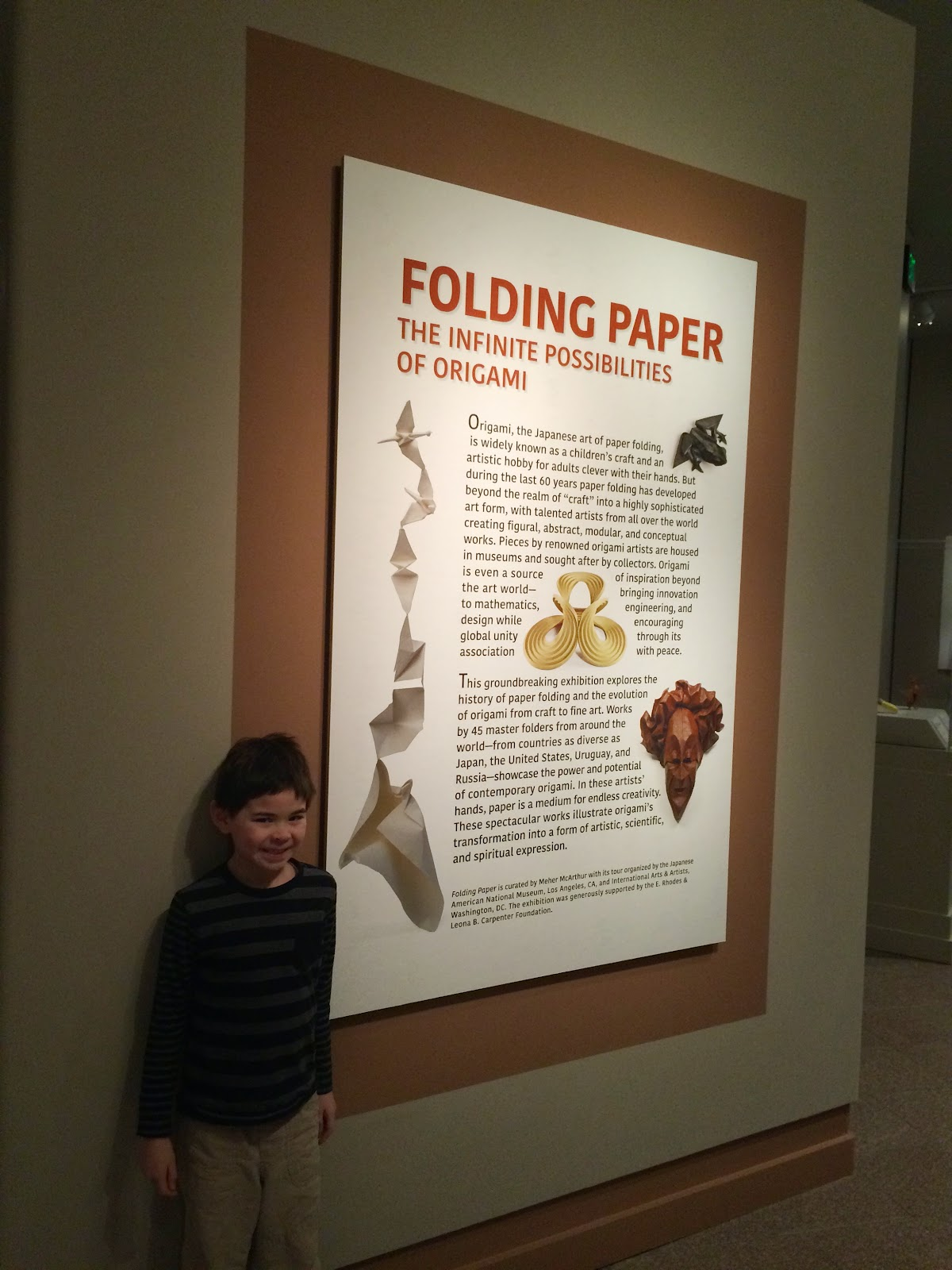 Field trip to provo origami exhibit adventures with theo we dont often go down south to utah county on our adventures but we took the opportunity to head to provo yesterday to visit the wonderful folding paper jeuxipadfo Image collections